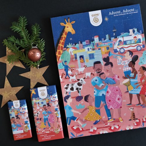 Adventskalender Weihnachten GEPA Fairnaschen Fairtrade Weltladen Weltladen Pankow Berlin